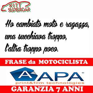Adesivo Stickers Frase Motociclista Moto Casco Serbatoio Codone Apa