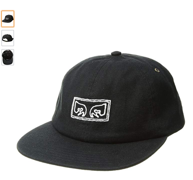 bc8cdf4efb6 OBEY Men s Live Wire 6 Panel Hat Black One Size 100 Cotton for sale ...