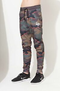 11a446444 Details about Hype Orange Camo Script Kids Joggers