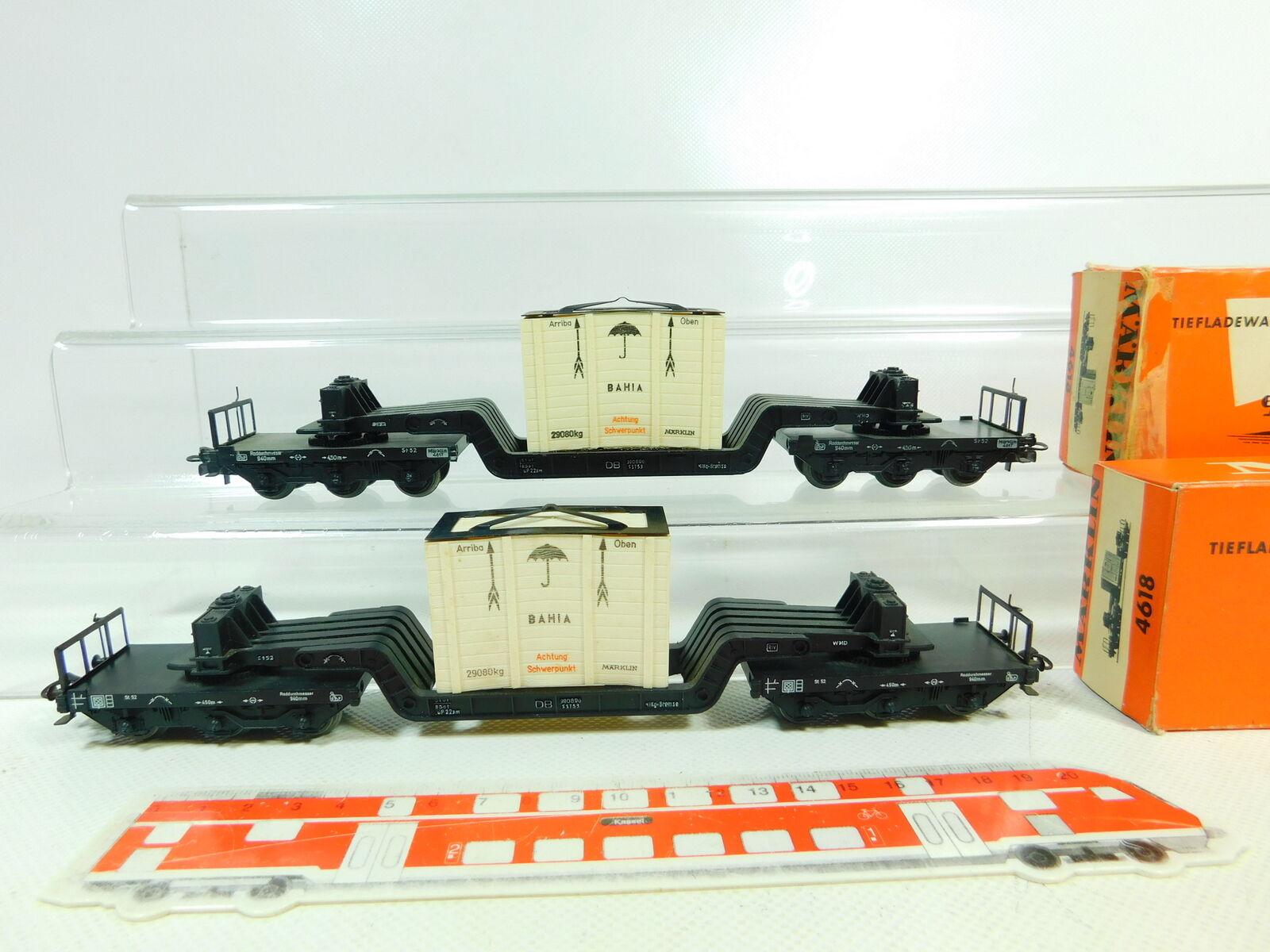 Bs782-1 x märklin h0 AC 4618 goods wagon heavy load with