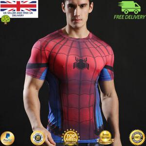 0ea6d8928b749f Image is loading Mens-t-shirt-compression-gym-superhero-avengers-marvel-