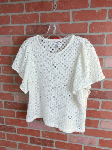 Madewell Texture & Thread Cotton Eyelet Top Size … - image 1