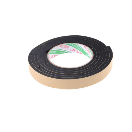2M`Schwarz Einseitig Selbstklebende Schaumstoff Aufkleber 20mm Breitex5mm Dicke//
