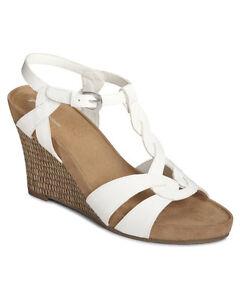 26610958379a Image is loading Aerosoles-Soft-Plush-Stone-Plush-strappy-wedge-sandals-