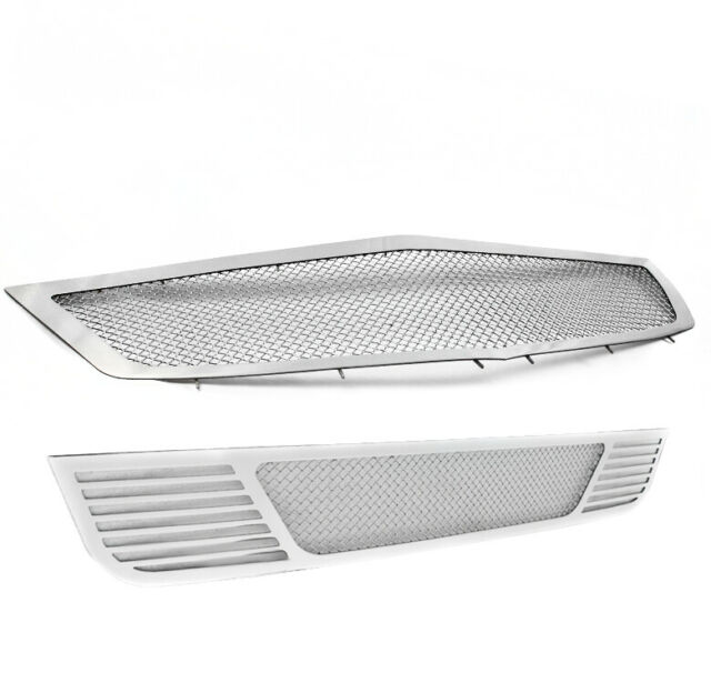FOR 2009-2010 ACURA TSX MAIN+BUMPER STAINLESS MESH GRILLE