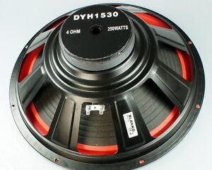 2x-Basslautsprecher-38cm-4Ohm-Subwoofer-15-Zoll-Tieftoener-Speaker-Bass-DYH