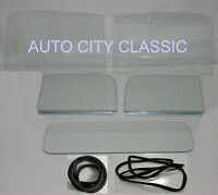 1947 1948 1949 1950 Chevrolet Pickup Gmc Windshield Doors +channel Back Glass Cl
