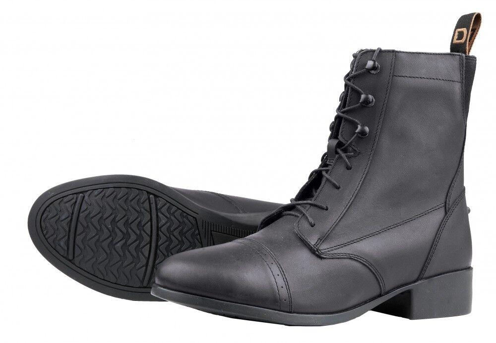 Nuevas Nuevas Nuevas botas de elevación con Cordones paddock de Dublín-Negro, Talla 6 1 2 B 35f097