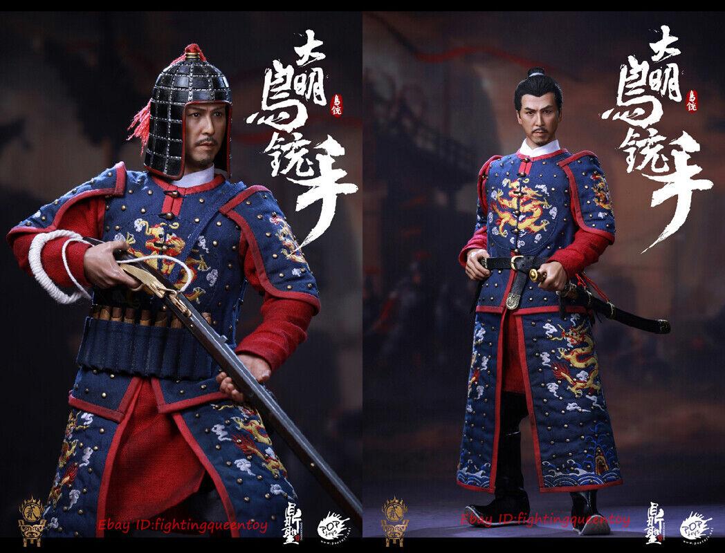 DS modelo DS002 dinastía Ming mano mosquete 1 6 Azul Color Ver. Donnie Yen en existencias