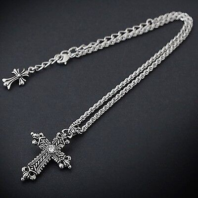 Guntwo Cross Necklaces - Hip Hop, Biker, Rocker, Tattoos Metal Necklace N1144 US