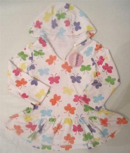 Brand New girls butterfly summer swim towel poncho dress age 9-12 12-18