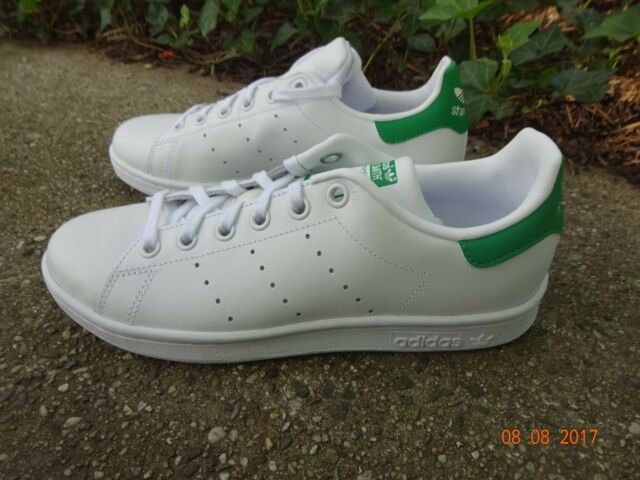 81c9a8bb8 Adidas Stan Smith Juniors Kids M20605 White Green GS Shoes Sneakers Trainer