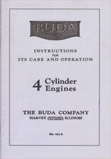 Buda Engines 1951 Care And Operation Instructions New Reprint