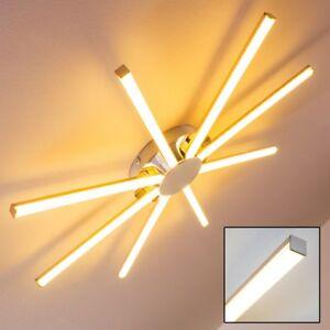 LED-Deckenleuchte-Design-Kuechen-Wohn-Zimmer-Leuchten-Chrom-Decken-Lampen-Flur