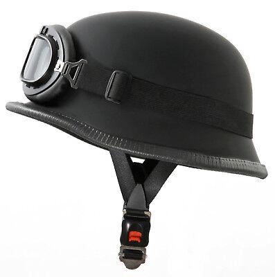 M 57//58cm ATO-Moto Retro Oldtimer Helm mit Leder bezogen und Fliegerbrille Gr/ö/ße
