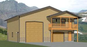 40x42 Apartment with 1-Car 1-RV Garage - PDF FloorPlan - 1,101 sqft ...