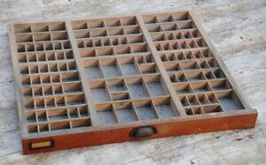 alter Setzkasten original Vintage Schublade Druckerei industrie design Deko ~