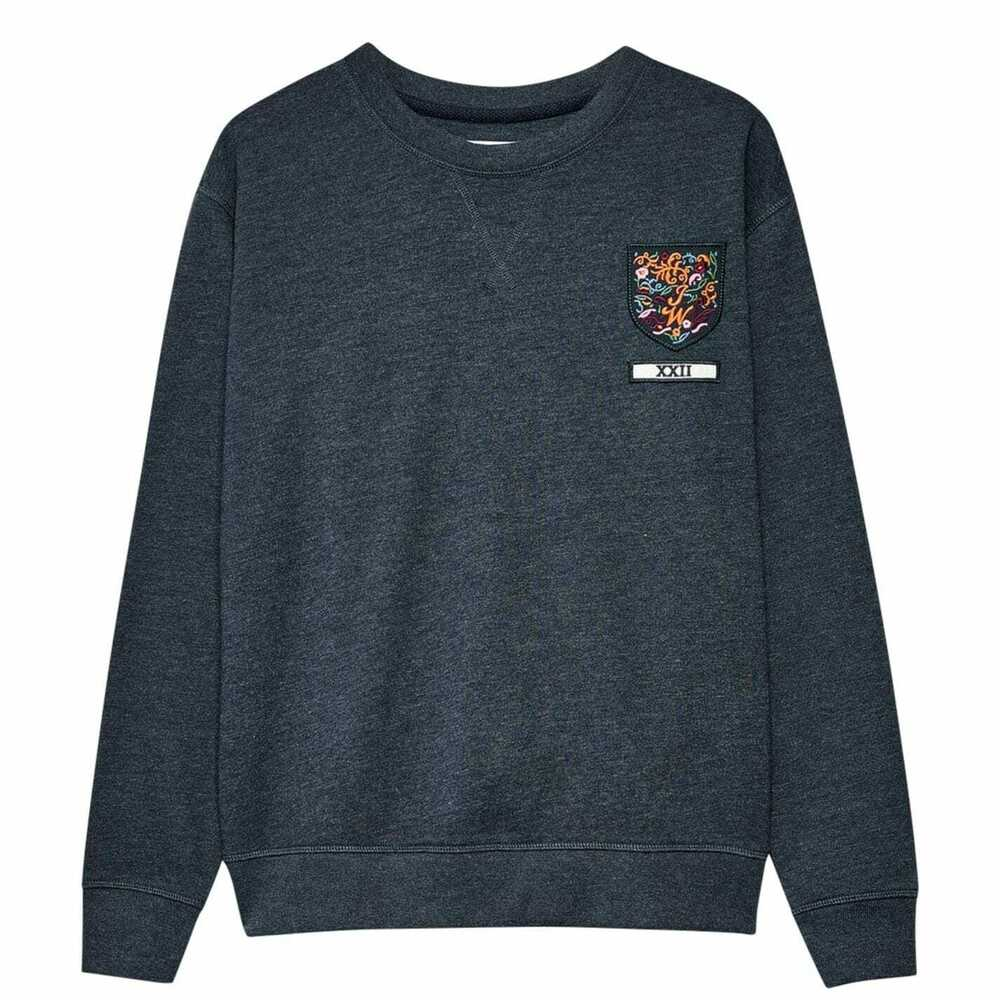 Jack Wills Finch Boyfriend Crew Sweat-shirt Bleu Marine 4 8 Ou 14 Neuf Rrp £ 44.95