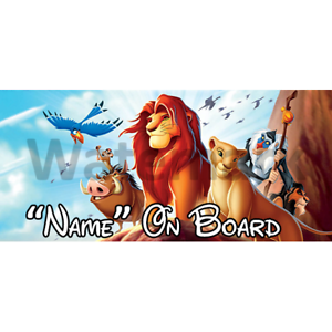 Disney Lion King Personalised Baby On Board Car Sign 1
