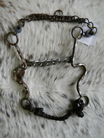 Metalab Western Brown Steel Horse Show Bit 5 1/2 Chain Mouth Tack