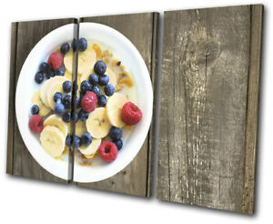 Breakfast-Healthy-Cafe-Food-Kitchen-TREBLE-CANVAS-WALL-ART-Picture-Print