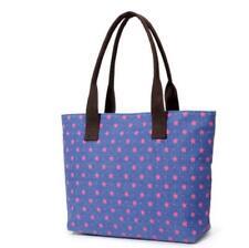 Womens Canvas Handbags School Shoulder Bags Campus Shopping Tote Bags Blue