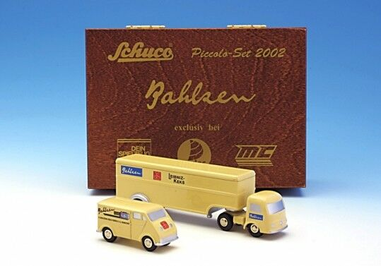 Schuco Piccolo jeu 2002 Bahlsen DKW   MERCEDES âge