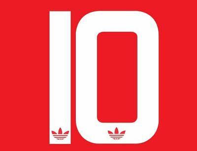 No 10 Manchester United 1982-1984 Home League Football Nameset for shirt