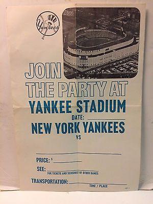 "Sport Süß GehäRtet Vintage Yankee Stadion Plakat "" Join The Party At Yankee Stadium "" Hohe QualitäT Und Preiswert Baseball & Softball"