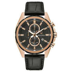 Bulova Men's Black Dial Chronograph Watch Model: 98A262 New With Tags