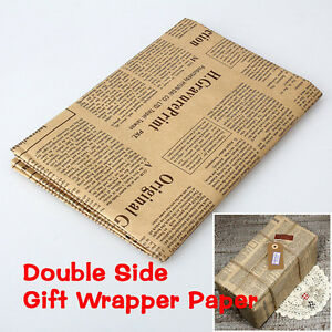 Wrapping-Paper-Wrap-Gift-Wrap-Double-Sided-Christmas-Kraft-Paper-Vintage-NIUK