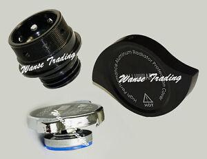 Oil-Cap-Radiator-Cap-Billet-Cover-Black-Fit-MITSUBISHI-Ralliart-Evolution-EVO-X