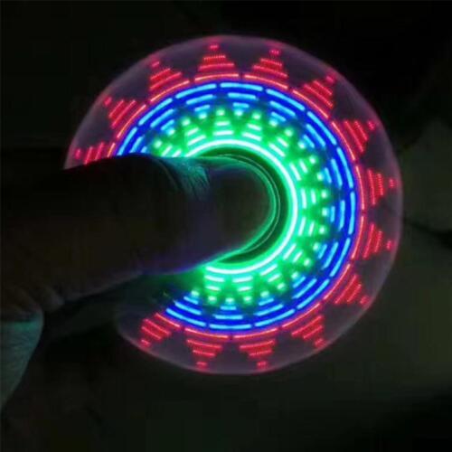 LED Rainbow Light Hand Spinner Tri Fidget EDC Toy Focus ADHD Autism 2018 Hot