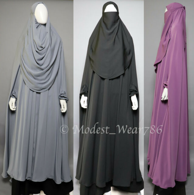 Egypt Gift Shops Full Length Islamic Overhead Combined Khimar Niqab Veil For Sale Online Ebay