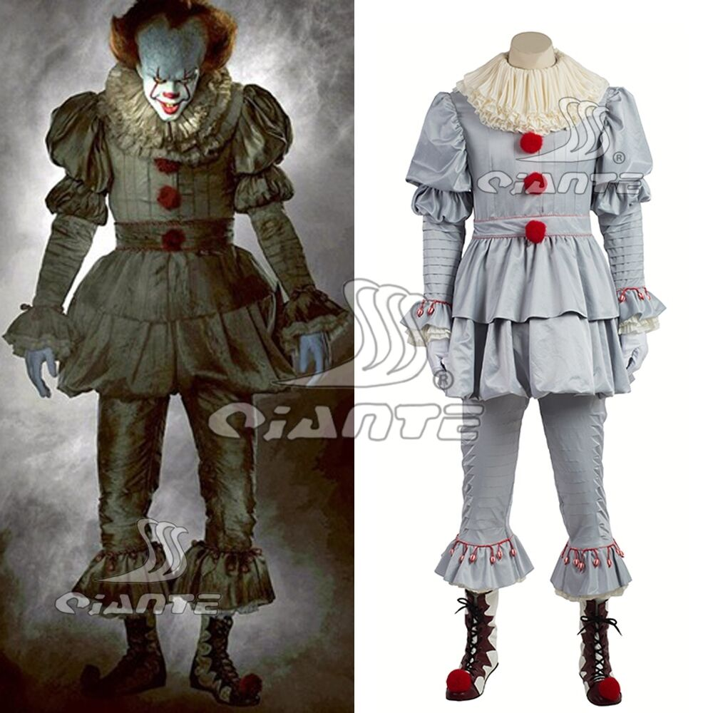 Stephen King's IT 2017 Movie Pennywise Cosplay Costume Halloween