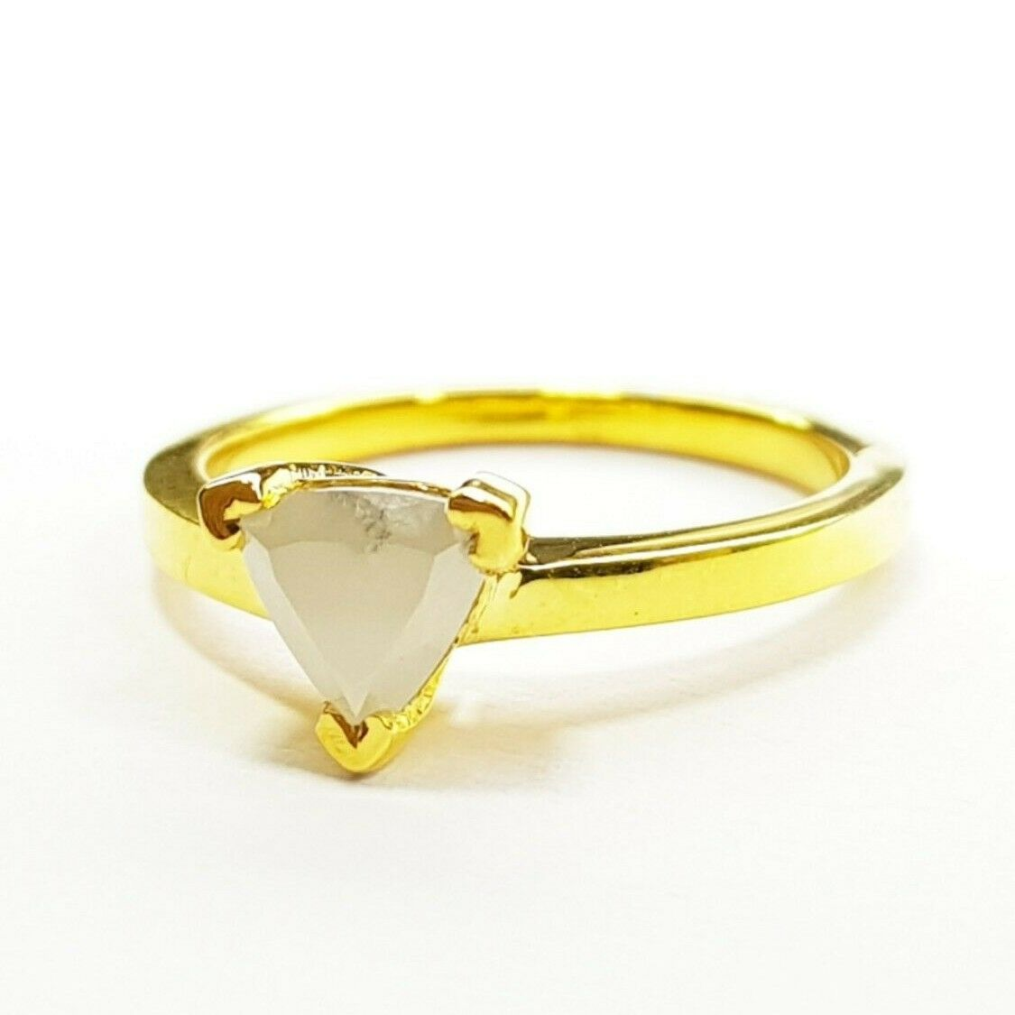 621e95a08bf1e Diamond Triangle color Milky Natural Ct 1.07 Ring Polished Special ...
