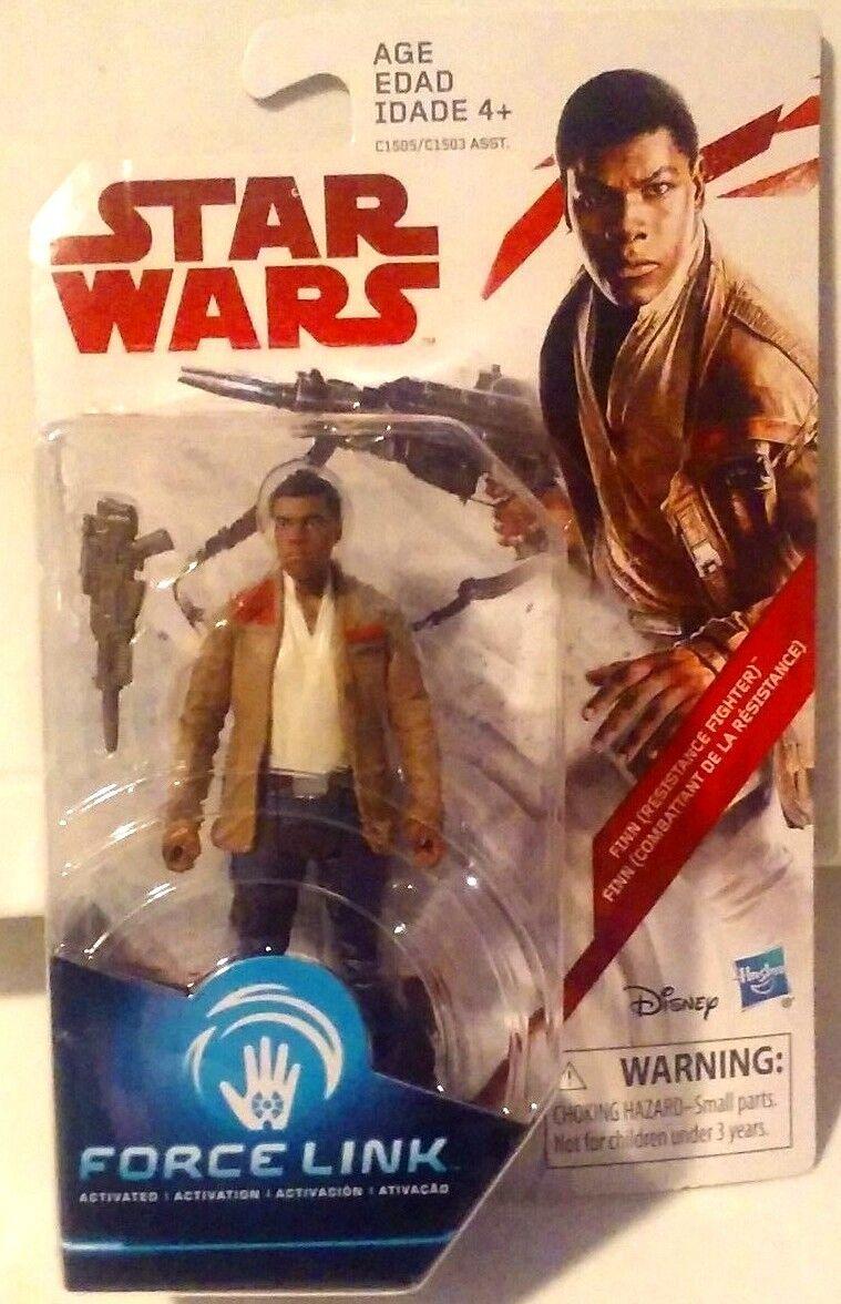 """Star Wars 3.75/"""" Force Link Action Figure-Finn Resistance Fighter"""