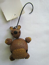 Teddy Bear Novelty Jingle Bell Ornaments Bells bears set 6 SALE Christmas