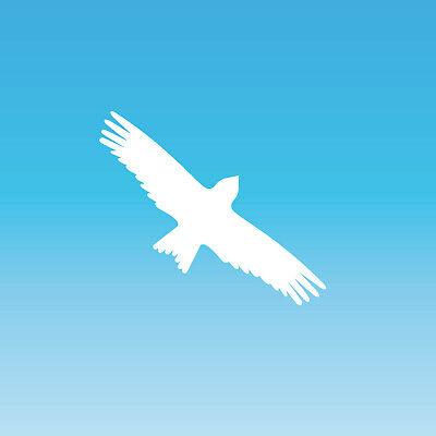 Warnvogel Aufkleber 15cm Weiß Milan Vogel Schreck Fenster Schutz Deko Folie Gute WäRmeerhaltung