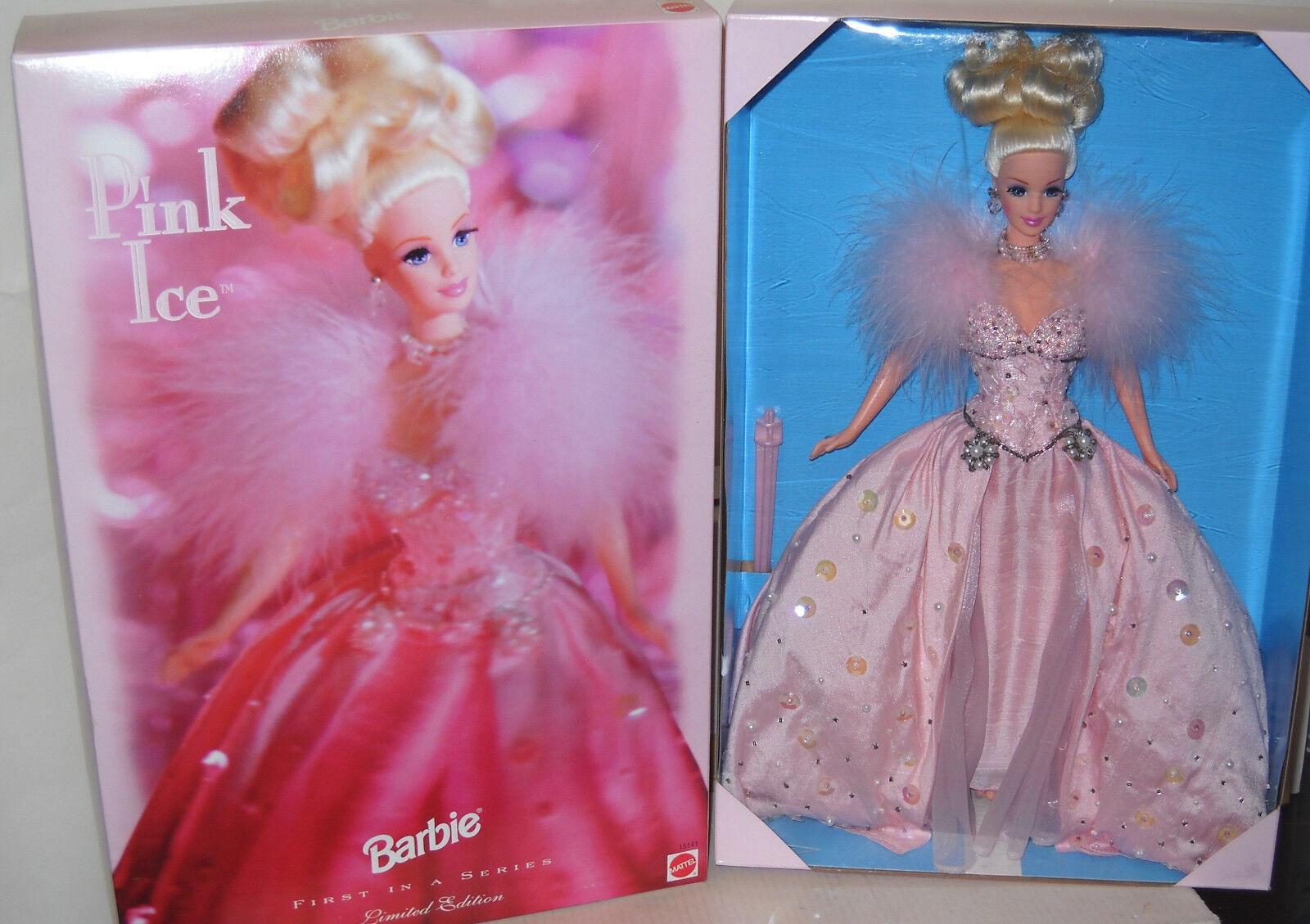 Raro nunca quitado de la Caja Mattel Toys R Us Edición Limitada rosado Barbie de hielo