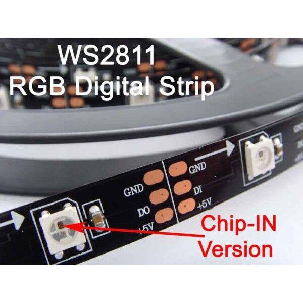 4m 5V Digital WS2812B IC RGB 5050 LED Tira de LED IP20