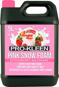 Prokleen-Car-Shampoo-Snow-Foam-Wax-Wash-Cleaner-High-Gloss-5l-Litre-pH-Neutral