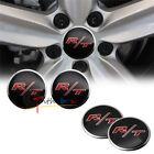 NEW 4PCS 56.5mm RT R/T Aluminum Car Auto Wheel Center Hub Cap Emblems Stickers