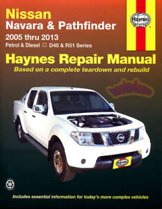 pathfinder shop manual nissan service repair haynes book chilton rh ebay com 2005 Nissan Pathfinder Service Manual 2005 Nissan Pathfinder Repair Manual