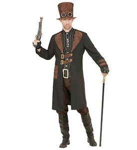 Costume Halloween Man.Details About Steampunk Man Fancy Dress Costume Halloween Adult Coat With Shirt Hat