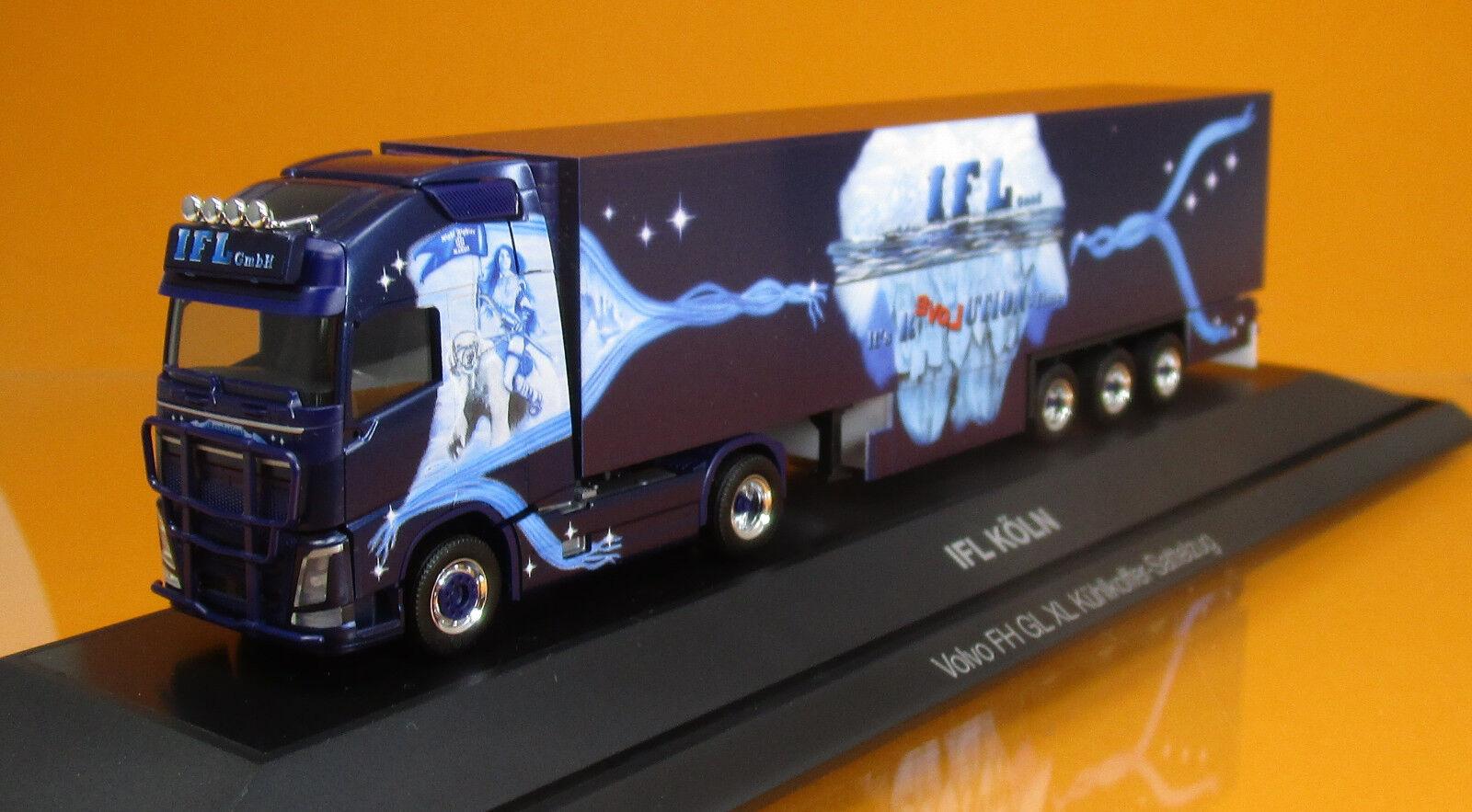 Herpa 121798 121798 121798 Volvo FH GL XL Kühlkoffer semi-remorque camion IFL Cologne PC Scale 1 87 NOUVEAU   Doux Et Léger  cc694b