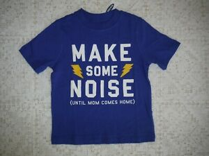 Boys-Old-navy-Blue-Tee-shirt-Short-Sleeve-size-3T-Make-Some-Noise-New-tags