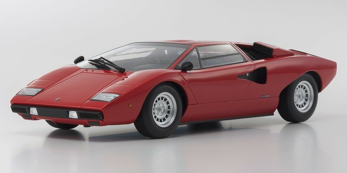 1 18 Kyosho Lamborghini Countach LP400 Red Diecast Model Car Red C09531R