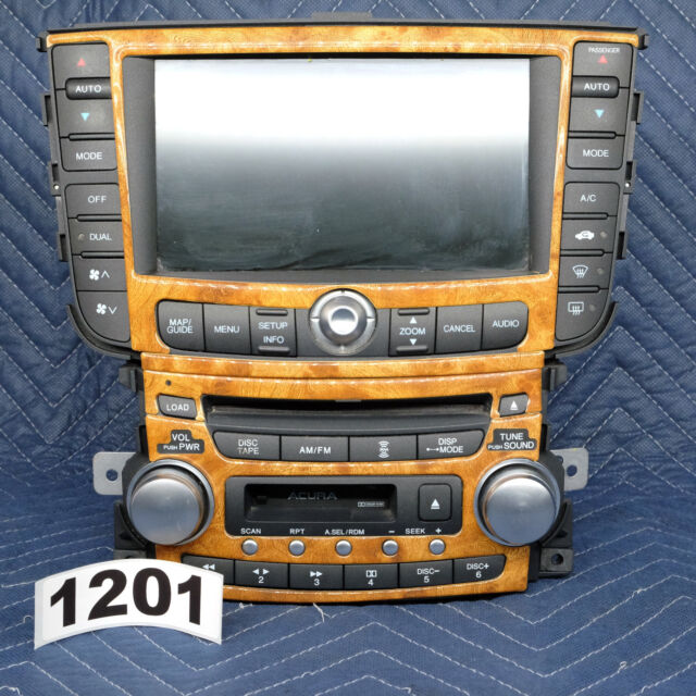 Acura TL Radio 6 CD Navigation GPS Display Climate