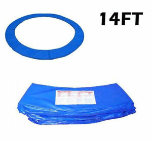 14FT-Blue-Trampoline-Pad-Spring-Safety-Cover-Replacement-Round-Frame